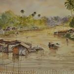 Sakaekrang river, Uthai Thani, Thailand