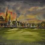 Dunset at Wat SuanDok, Chiang Mai, Thailand