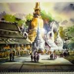 Thailand Buddhist stupa study