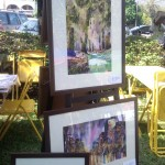 Watercolour paintings at the CityLife Garden Party Stall